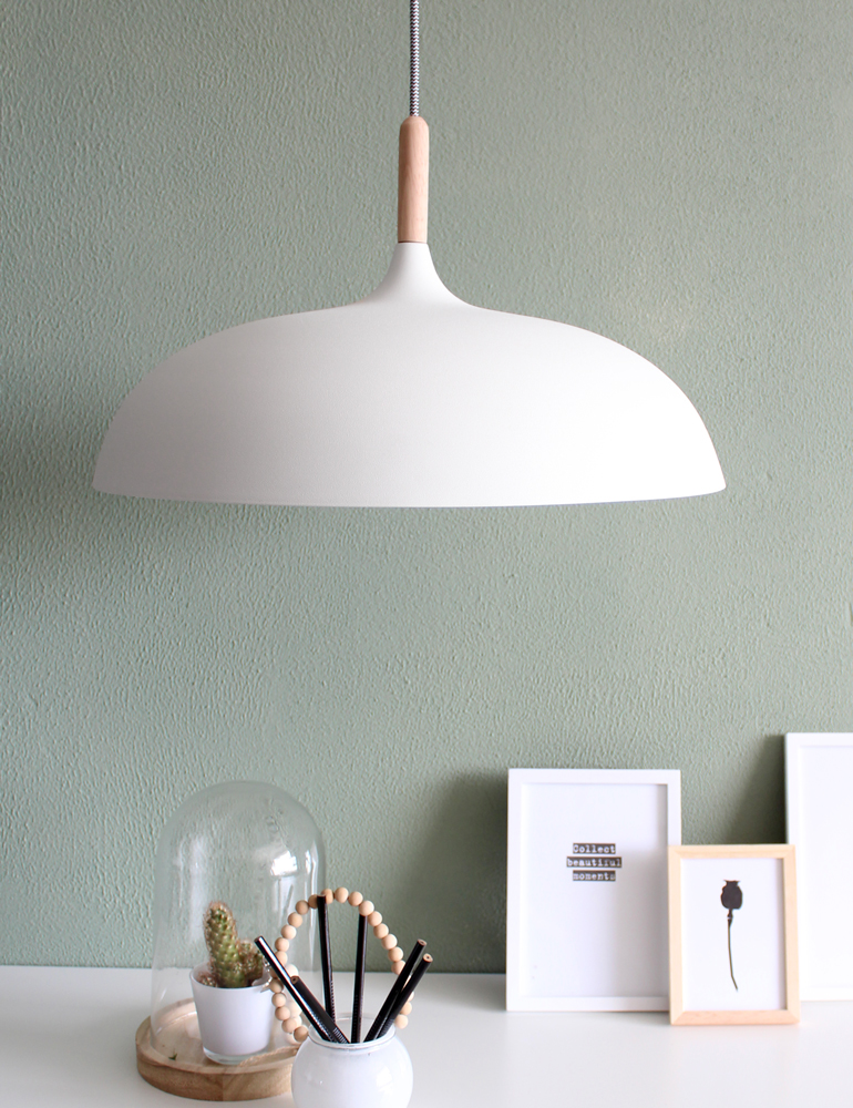 hanglamp hout wit